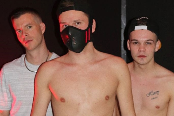 Hung Young Brit and big dicked Charlie breed a masked young lad in Polish Mask at Hungyoungbrit