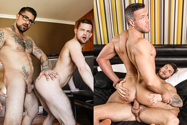 Ryan Bones and William Seed fuck Kurtis Wolfe and Alex Mecum at Drillmyhole