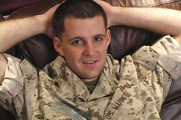Handsome tattooed straight Marine Cal sucked and jerked off at Militaryclassified