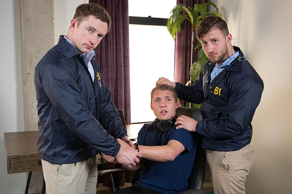 Nicholas Ryder barebacks Elye Black and Markie More in Swat Bottom at Nextdoorbuddies