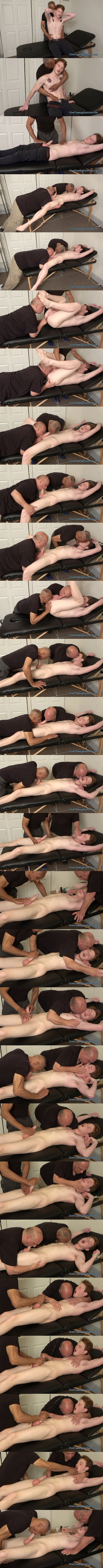 Bi-sexual college student Dillon kissed, sucked, rimmed and jerked in Dillon Teased Unmercifully at Slowteasinghandjobs 01
