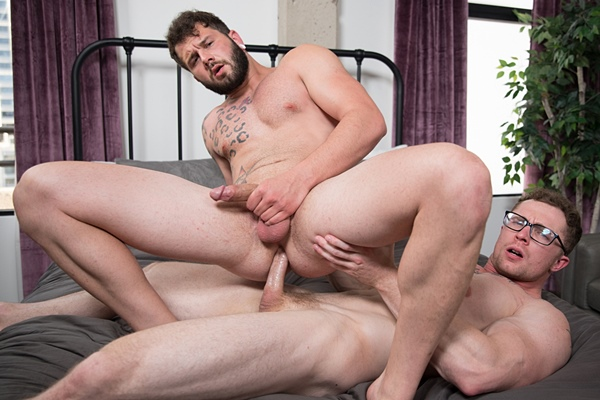 Johnny Hill and Markie More flip fuck raw in Johnny's bottoming debut in Urgent Urges at Nextdoorstudios