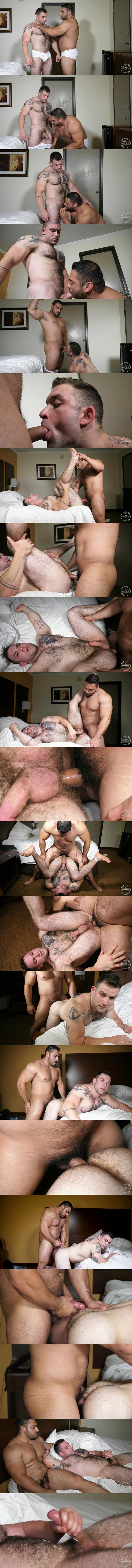 Jesse James fucks sexy hairy inked muscle hunk Jack's virgin ass in Popping Jack's Cherry at Theguysite 02