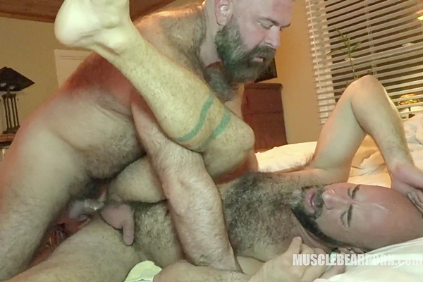 Will Angell barebacks and creampies Damon Andros in Damon's bottoming debut in The Top Whisperer at Musclebearporn