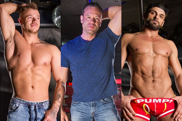 Hot male strippers Brian, Darcy and Jeremy get naked and jerk off in Strip Club at Realitydudes