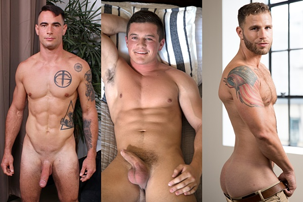 Hot newcomers Johnny Utah, Shaun Gains and Taylor Briggs get naked and jerk off