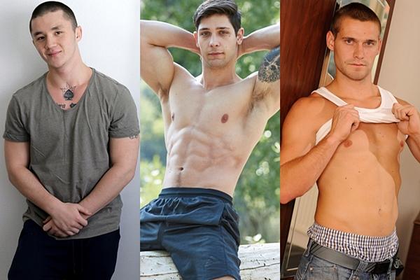 Hot straight guys Alex Weber, Merrick and Petr Rygl jerk off