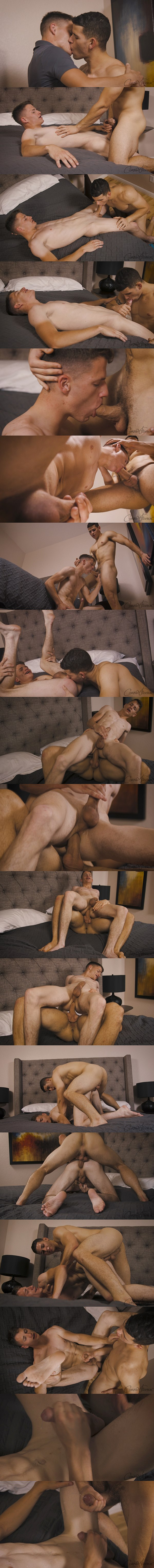 Elian barebacks and fucks the cum out of Jack in Jack's bottoming debut at Corbinfisher 02