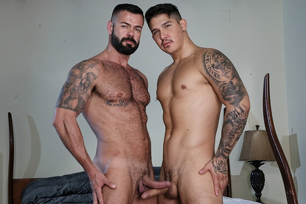 Muscle hunk Victor D'angelo flip fucks Apolo Fire in Victor's bottoming debut in Casting Couch #391 at Kristenbjorn