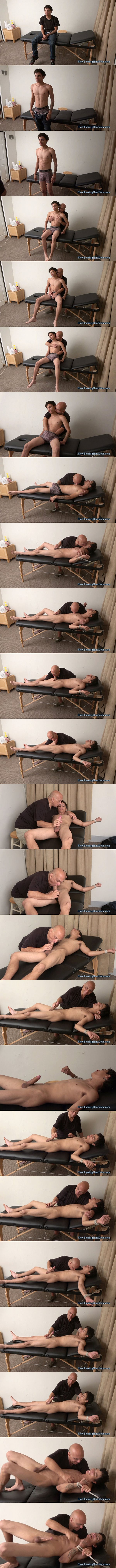 New straight lad Jay slowley edged in Tickle Punished for Unauthorized Cum at Slowteasinghandjobs 02