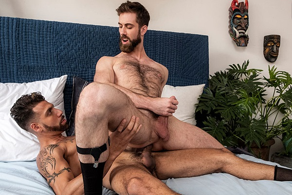 Fx Rios barebacks bearded hairy newcomer Jason Cox in Jason's bottoming debut at Lucasentertainment