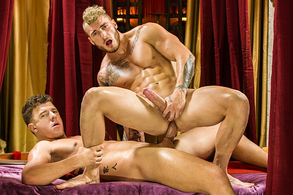 Big dicked JJ Knight (Eromenos) fucks Canadian beefcake William Seed (Erastes) in Sacred Band Of Thebes Part 1 at Drillmyhole