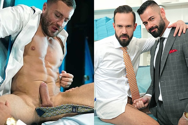 Jean Franko and Victor D'Angelo fuck macho hunks Emir Boscatto and Andy Onassis at Menatplay