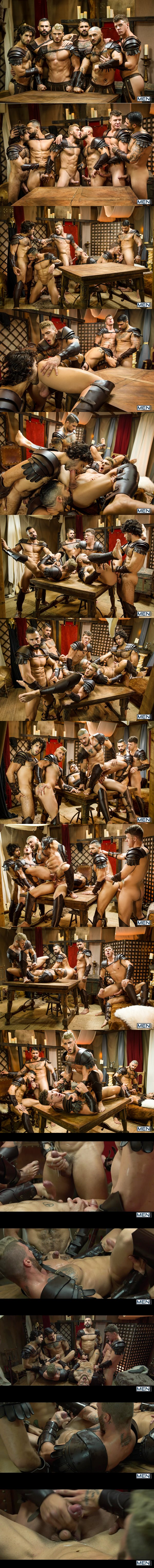 Diego Sans and Ryan Bones fuck William Seed, D.O., Francois Sagat and JJ Knight in Sacred Band Of Thebes Part 4 at Drillmyhole 02