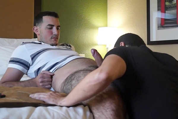 Sexy, fuzzy straight limousine driver Mike fucks Victor in Sucking Ex-Army Young Dude Cock at Beefcakehunter