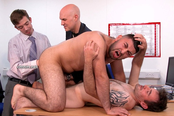 Hot straight guys Andy Rodgerson and Gareth humiliated and dominated by four creepy masters in Jail Break at Cmnm