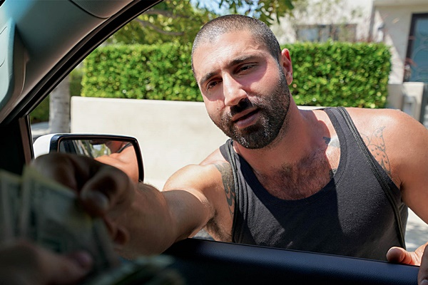 Sexy fuzzy Middle Eastern muscle hunk Sharok (aka Luca Miklos) gets fucked in his bottoming debut at Realitydudes