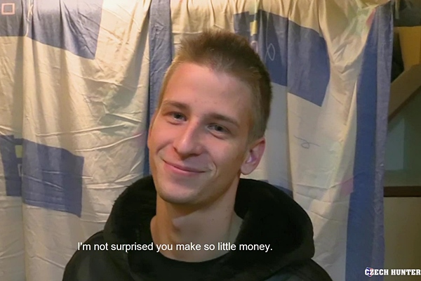 The cameraman barebacks and creampies a cute blond straight dude Czech Hunter 403 at Czechhunter
