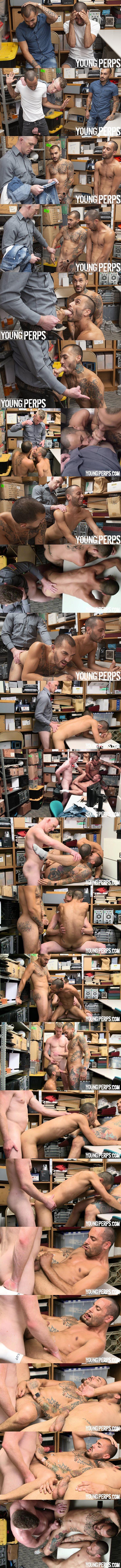 Nick Fitt barebacks sexy latino Matthew Grande and Chance Summerlin in a raw threeway in Case No. 1902054-78 at Youngperps 01
