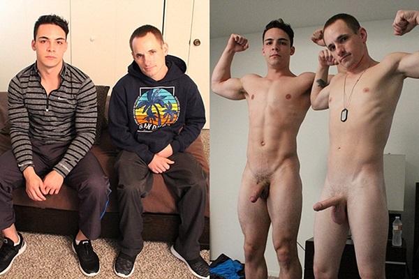 Antonio (aka Ollie at Seancody) barebacks new military recruit Memphis' tight virgin ass in Memphis' bottoming debut at Militaryclassified