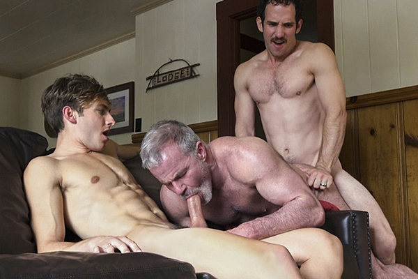Bar Addison and Greg McKeon bareback step-grandpa Dale Savage in an older younger raw threeway in Sleepover With Gramps Chpater 4 Goodbye Gramps at Familydick