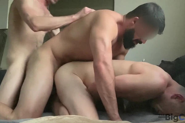 Cory (Big C), Jared (aka Jayden Grey) and a DL Bi Hung Army Veteran fuck each other bareback in Insane 3 Way Flip Fuck - Cory Introduces Jared to the DL Bi Hung Army Veteran at Thebigcmen