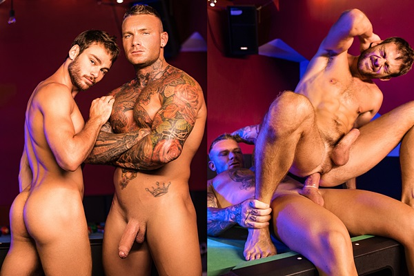 Masculine British muscle hunk Billy Essex (aka Lee Tyler) fucks the cum out of Max Adonis in Anatomy of A Men Scene Part 1 at Drillmyhole