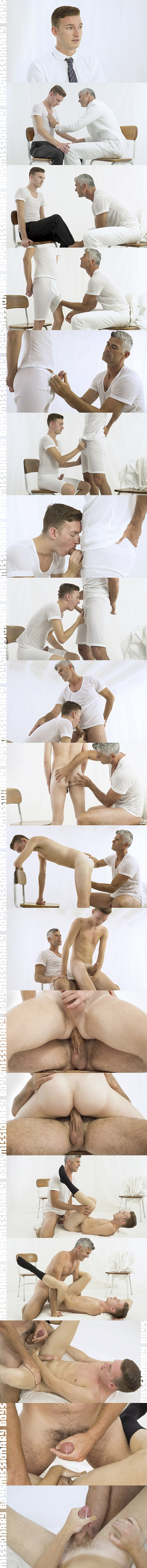 Silver fox President Oaks barebacks hot newcomer Elder Herring's tight virgin hole in Herring's bottoming debut in Chapter 1 The Interview at Missionaryboys 02