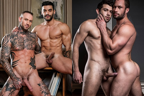 Arad Winwin and Ben Batemen bareback Dylan James and Stas Landon at Lucasentertainment