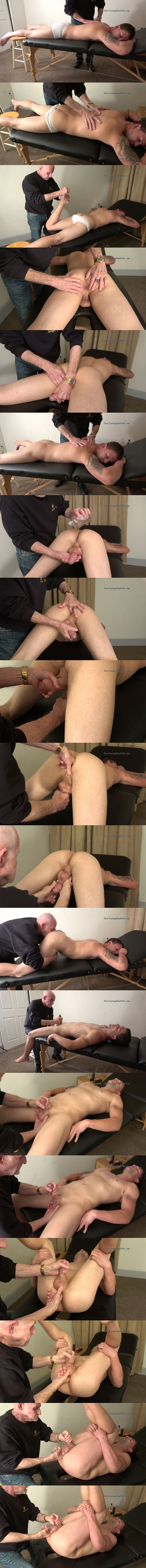 Hot straight muscle hunk Mac gets massaged, rimmed, fingered and jerked off by master Gary in a service session at Slowteasinghandjobs 02