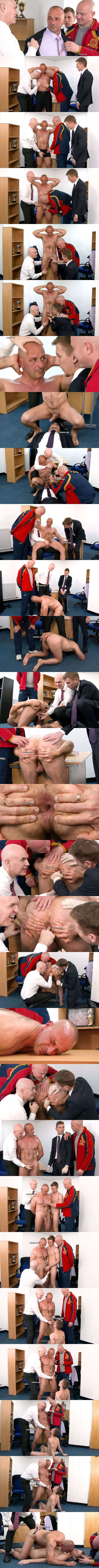 Maculine businessman Dino (aka Monsieur Francois) stripped, fingered, humiliated and jerked off in front of his nephew Paolo in The Offer That Cant Be Refused at Cmnm 01