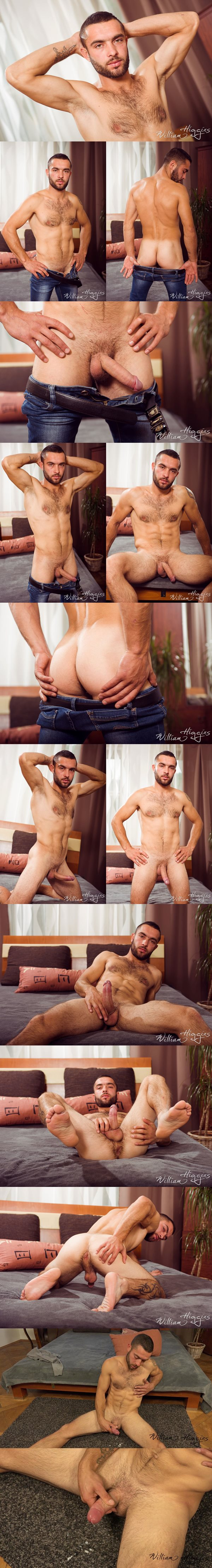 Rugged handsome straight muscle jock Vova Volodyk reveals his tight virgin hole and jerks off at Williamhiggins