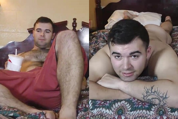 Sexy hairy bear, straight Military stud Bush gets massaged, fingered, manhandled and jerked off for the first time on camera at Fredsugar