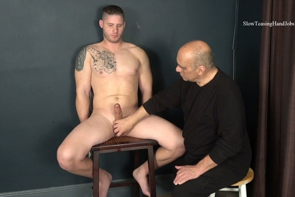 Married husband, handsome straight muscle jock Brad gets slowly teased, edged and jerked off by master Rich in New Dad Teased and Edged at Slowteasinghandjobs
