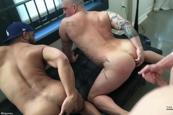 Cory (aka Big C) barebacks a muscle couple until he breeds them in an interracial raw threeway in Big C Fucks the Muscle Couple at Their Place Downtown on Lunchbreak at Thebigcmen
