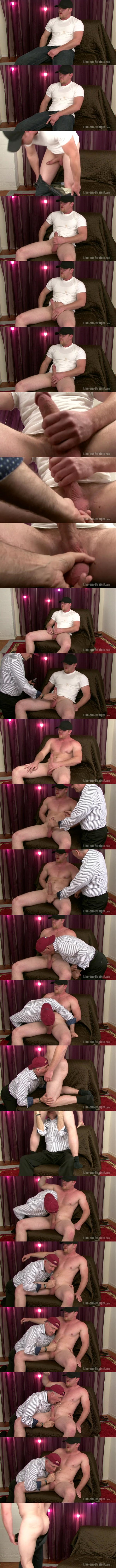 Masculine straight beefcake, hung red-haired stud Kent gets his big cock sucked and jerked off by Brendon Marley in Blast Off at Like-em-straight 01