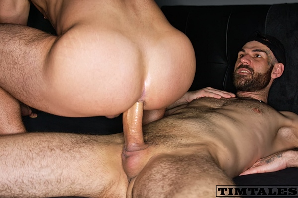 Hung masculine newcomer Neo barebacks Italian power bottom Saverio in a various of positions before he blows his load at Timtales
