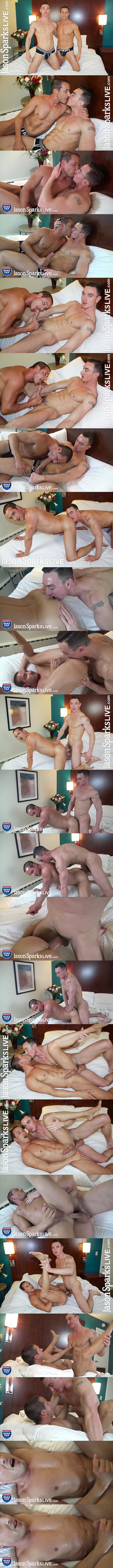 Hung gay porn star Cade Maddox barebacks Nick Ford in several positions before he fucks the cum out of Nick in Chicago at Jasonsparkslive 01