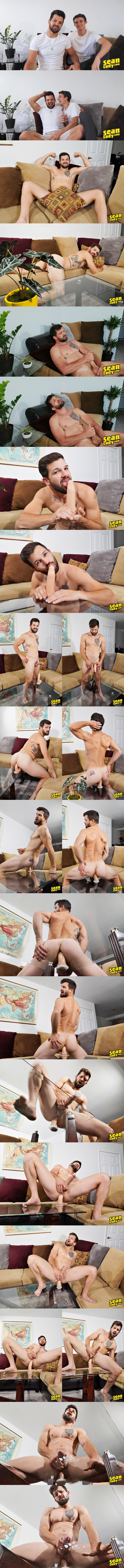 Popular model Brysen introduces his boyfriend Nolan before Bryen fingers and fucks himself with his own molded dildo until he blows two creamy loads at Seancody 01