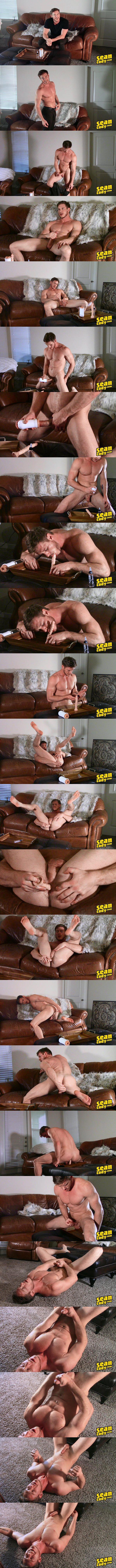 Handsome straight muscle jock Jax (aka Jordan Hayes) dildo fucks his tight virgin hole until he shoots his white jizz in a homemade solo at Seancody 01