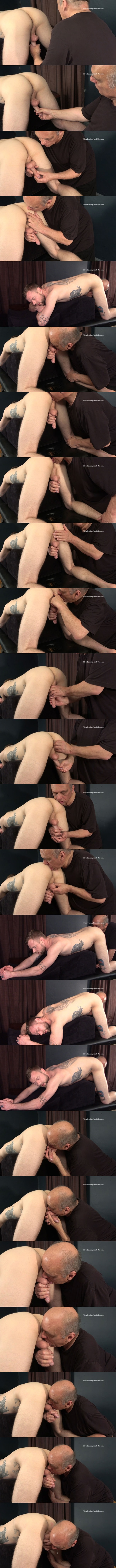 Tattooed straight dude Keith bends over and gets licked, rimmed, sucked and jerked off by master Rich in Licked Rimmed Stroked and Sucked at Slowteasinghandjobs 01
