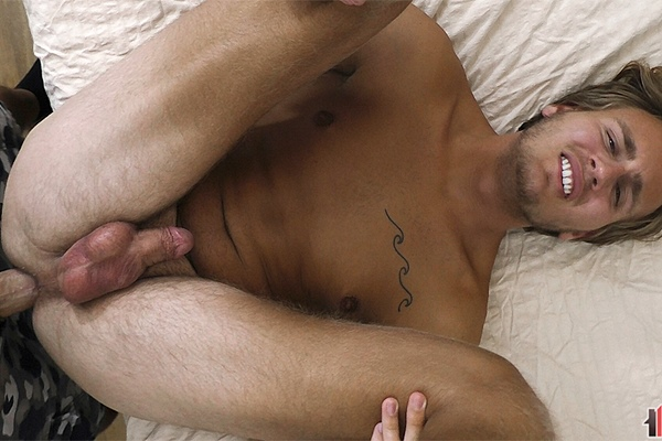 The house manager barebacks straight white trash Oliver's tight virgin ass in several positions until he nuts in Oliver's mouth in Oliver's bottoming debut in Think Good Thoughts at Boyshalfwayhouse
