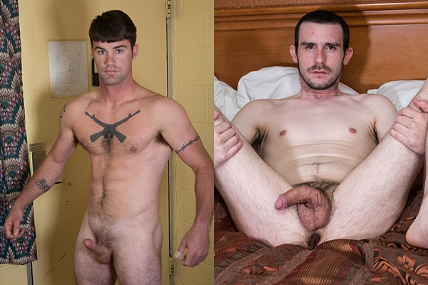 Handsome straight jock Danny Mustang and amateur straight dude Noah Dean get naked and jerk off for the first time on camera at Fredsugar