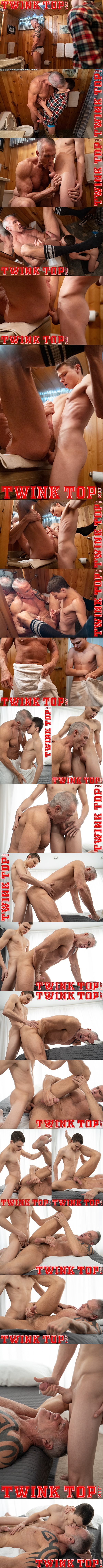 Skinny twink boy Austin Young barebacks tall daddy coach Dallas Steele before he gives Dallas a facial in Sports Camp Newbie at Twinktop 01