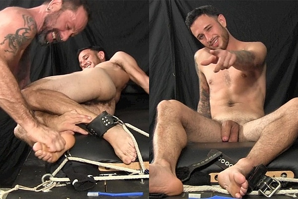 Hot straight guy Evan gets his naked body, armpits and bare feet tickled by master Franco Dax before Franco sucks and jerks Evan off in Evan Tickle Tortured and Milked at Tickledhard