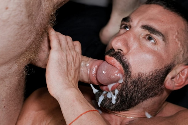 Horse hung German power top Tim Kruger slam fucks masculine Bulgarian bodybuilder Kai Marcos in a various of positions before he cums on Kai's bearded face at Timtales