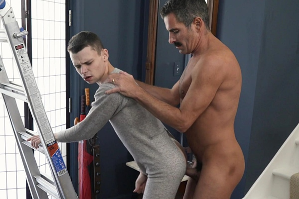 Mr Cox (aka Bishop Eldridge or Austin) barebacks and creampies twink Austin Young in Family Holiday Tradition Mr. Cox and His Nephew Austin Mistletoe at Gaycest