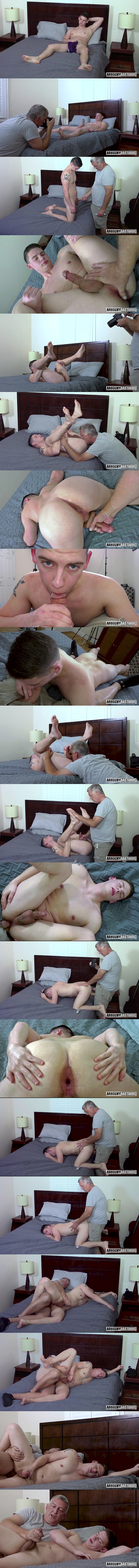 Daddy Clay barebacks straight muscle jock Noah Reed in an older younger scene until he breeds and fucks the cum out of Noah in Breeding A Fine Ass at Raunchybastards 01