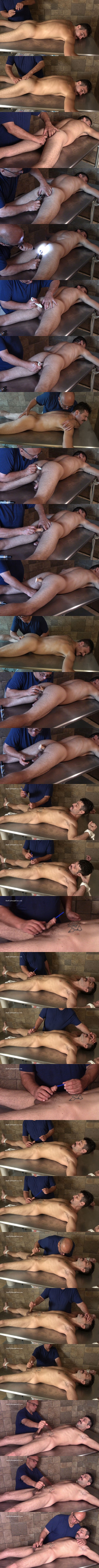 Manly straight hunk Nick gets fingered, buttpluged, dildo-fucked, sounding and slowly edged by master Rich before Rich jerks Nick off in A Straight Guy's Biggest Fears at Hardupstraightguys 01