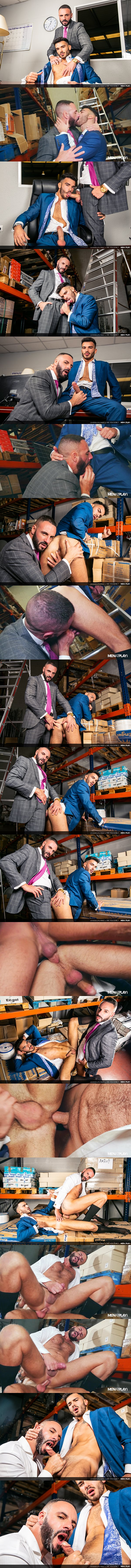 Macho hunk Leo Rosso and sexy Spanish newcomer Pol Prince flip fuck before Pol fucks the cum out of Leo and gives him a facial in both guys' bottoming debut at Menatplay 01